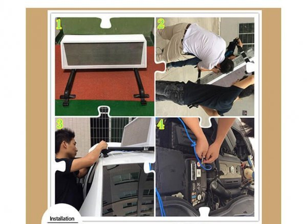 taxi screen installation steps