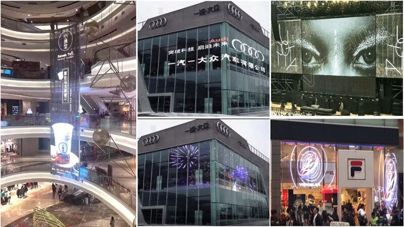 double sides transparent led display